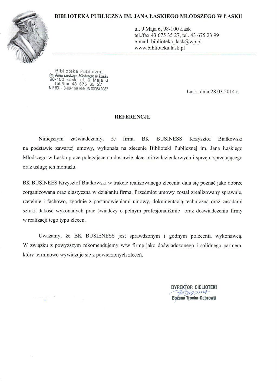 Biblioteka Publiczna Im. Jana Łaskiego Młodszego W Łasku